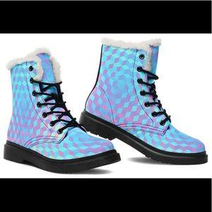 Cute New Combat Boots women's sz 7 Electrothreads